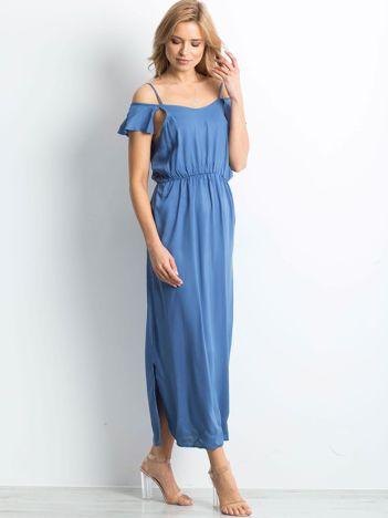 Ciemnoniebieska sukienka Choosen