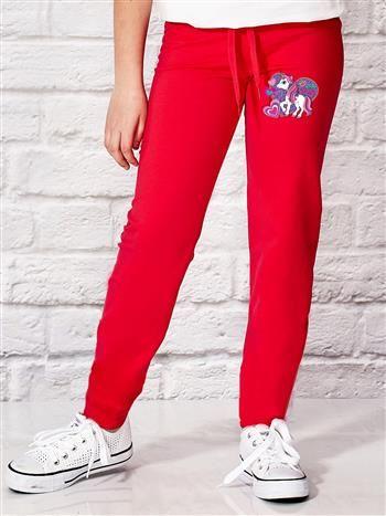Ciemnoróżowe spodnie dresowe dla dziewczynki LITTLE PONY