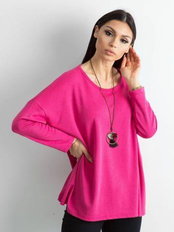 Ciemnoróżowy sweter oversize