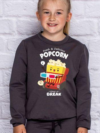 Ciemnoszara bluza dziecięca POPCORN