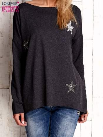 Ciemnoszara bluza z błyszczącymi gwiazdkami