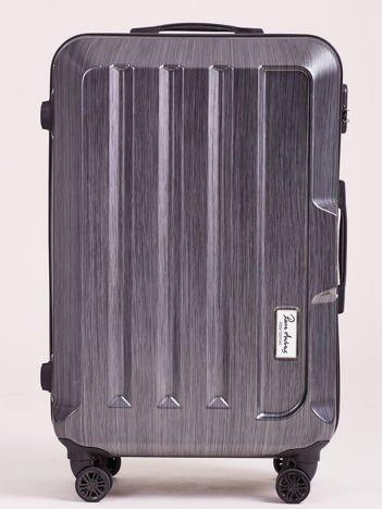 Ciemnoszara duża walizka twarda