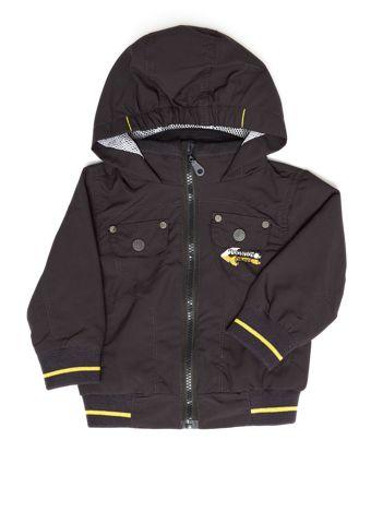 Ciemnoszara kurtka dla chłopca