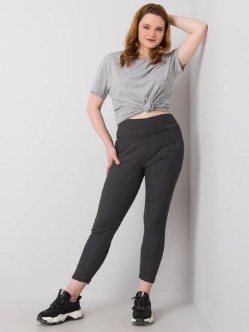 Ciemnoszare legginsy plus size Celinne RUE PARIS