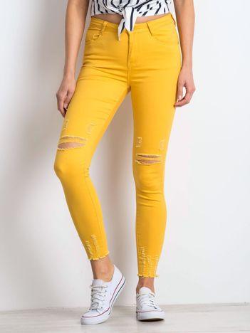 Ciemnożółte jeansy Imperial