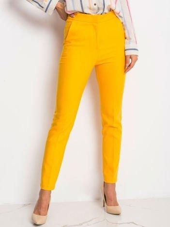 Ciemnożółte spodnie Favorite