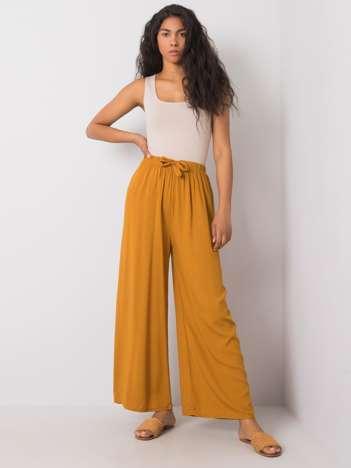 Ciemnożółte spodnie Yolande RUE PARIS