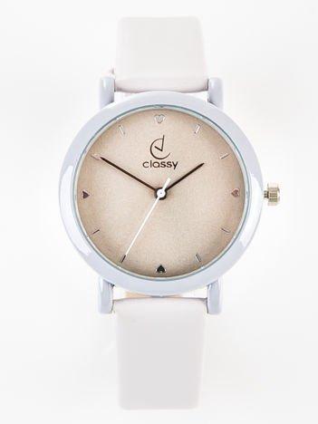 Classy LOVE elegancki szary zegarek damski