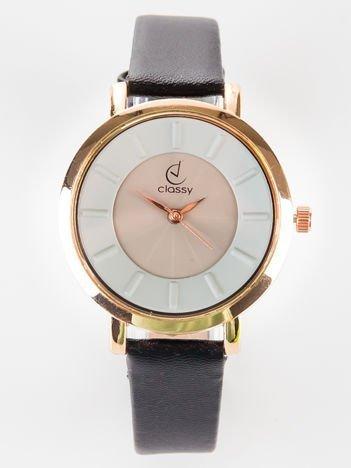 Classy elegancki czarny zegarek damski