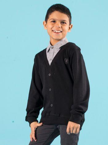 Czarna bluza chłopięca z koszulą