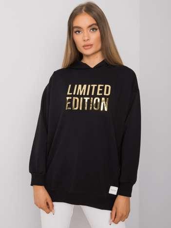 Czarna bluza damska z kapturem Clothilde RUE PARIS