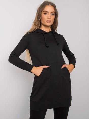 Czarna bluza kangurka Clorinda
