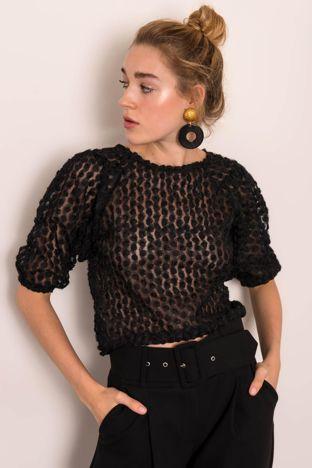Czarna bluzka damska BSL