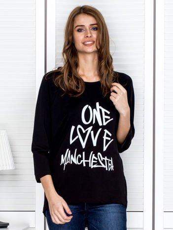 Czarna bluzka z napisem ONE LOVE