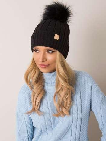 Czarna czapka zimowa RUE PARIS