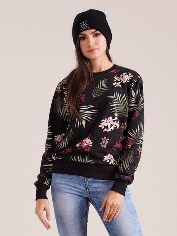 Czarna damska bluza z nadrukiem