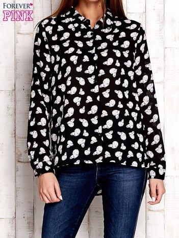 Czarna koszula w pandy