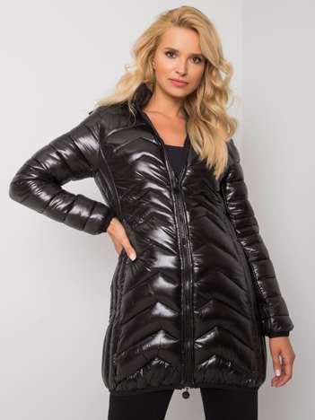 Czarna kurtka z odpinanym kapturem Allura