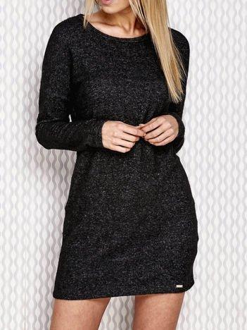 Czarna melanżowa sukienka