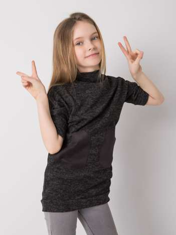 Czarna melanżowa tunika dla dziewczynki DODO KIDS