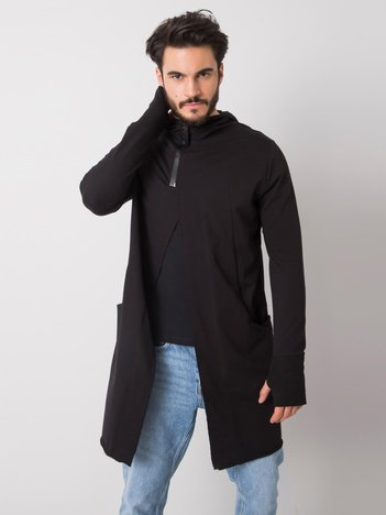 Czarna męska bluza z kapturem Quincy