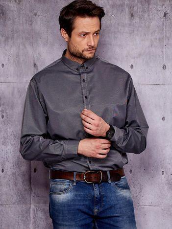 Czarna prążkowana koszula męska PLUS SIZE