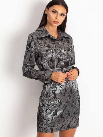 Czarna sukienka Moderne