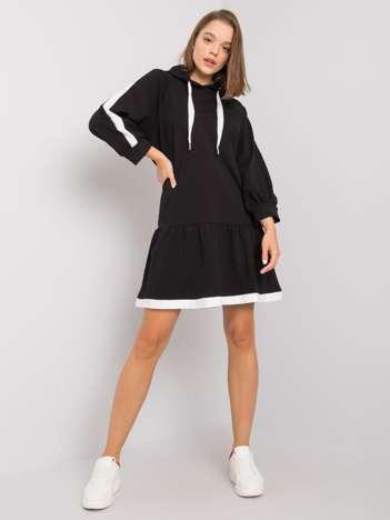 Czarna sukienka dresowa Georgetta