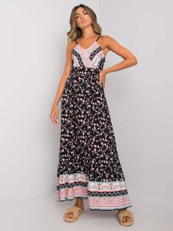 Czarna sukienka we wzory Elaina