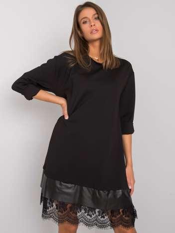 Czarna sukienka z koronką Latashia OCH BELLA