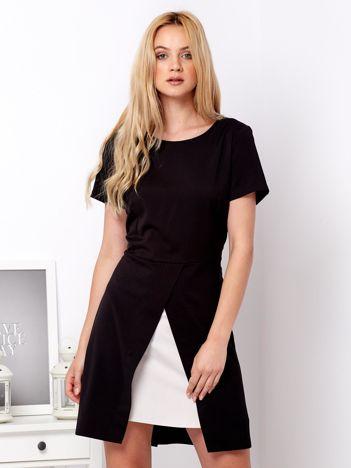 Czarna warstwowa sukienka