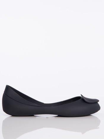 Czarne baleriny Melisy bez palców z ozdobnym sercem z przodu buta