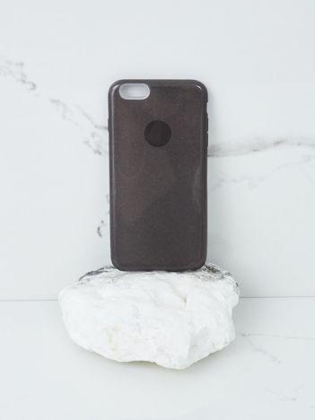 Czarne brokatowe etui do iPhone 6G Plus