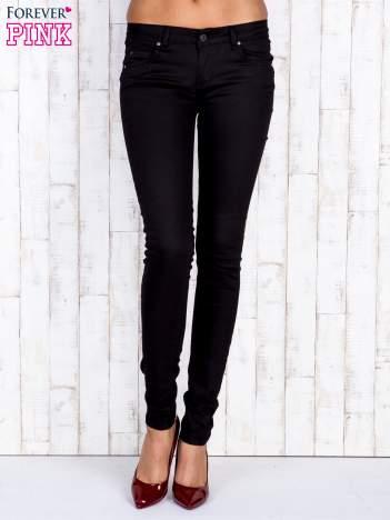 Czarne jeansowe spodnie rurki skinny jeans