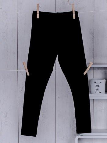 Czarne legginsy dla dziewczynki
