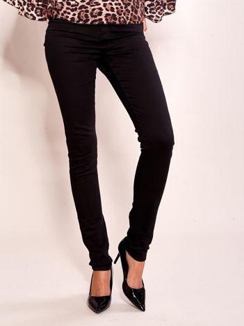 Czarne materiałowe spodnie high waist