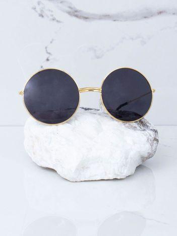 Czarne okulary hippie