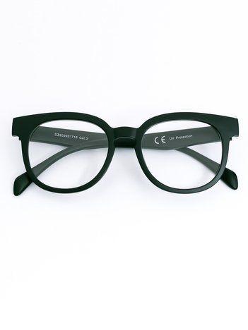 Czarne okulary zerówki kujonki