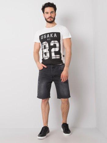 Czarne spodenki jeansowe męskie Marco
