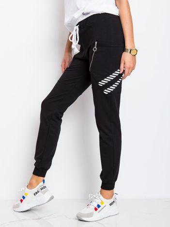 Czarne spodnie Texture