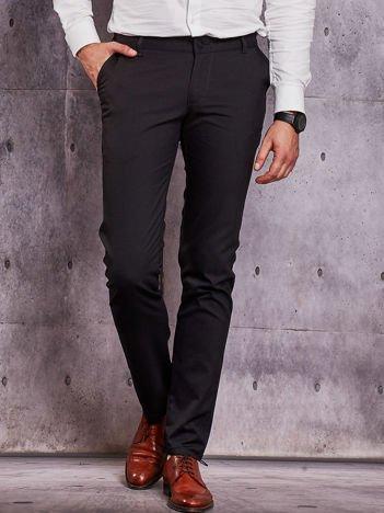 Czarne spodnie męskie w delikatny wzór