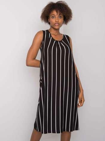 Czarno-biała sukienka w paski Haima