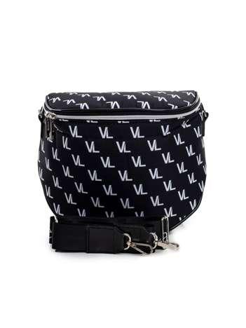Czarno-biała torebka we wzory