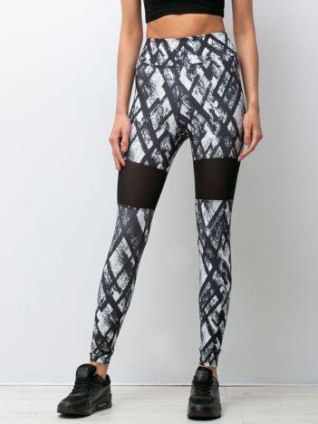 Czarno-białe legginsy Legacy