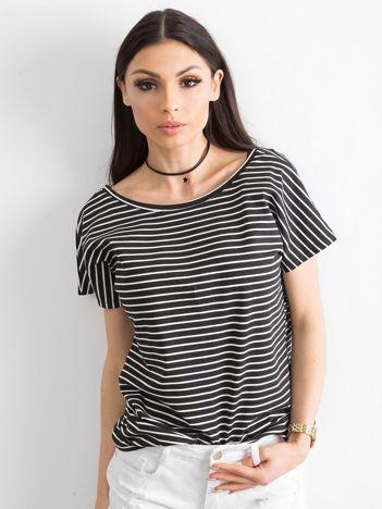 Czarno-biały t-shirt Morning