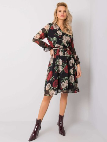 Czarno-bordowa sukienka Colette RUE PARIS