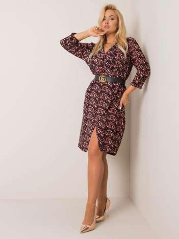 Czarno-różowa sukienka plus size Abbi