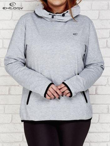 Czarno-szara bluza z kontrastowymi lamówkami