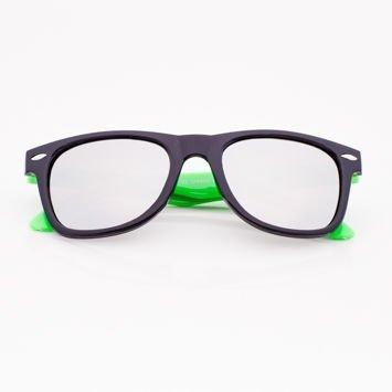 Czarno-zielone WAYFARERY Z LUSTREM stylowe okulary dzieciece z filtrami UV