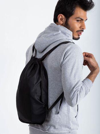 Czarny męski plecak worek
